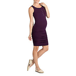 Savi Mom Sleeveless Maternity and Nursing Dress in Plum