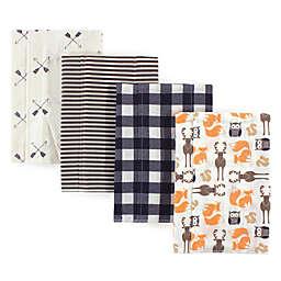 Hudson Baby® 4-Pack Forest Flannel Burp Cloths in Beige