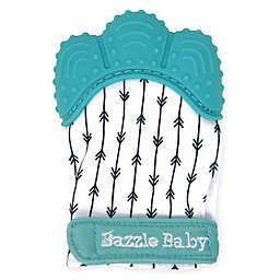 Bazzle Baby Arrows Chew Mitt Teething Mitten in Black/White