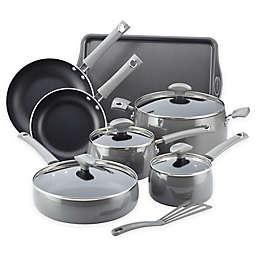 Rachael Ray™ Cityscapes Porcelain Enamel 12-Piece Cookware Set in Sea Salt Grey