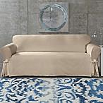 SUREFIT Cotton Canvas Wrinkle Resistant Sofa Slipcover in Sand