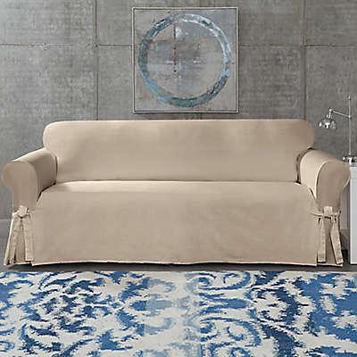 SUREFIT Cotton Canvas Wrinkle Resistant Furniture Slipcover Collection