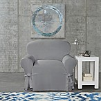 SUREFIT Cotton Canvas Wrinkle Resistant Chair Slipcover in Grey