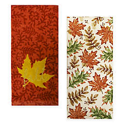Fall Leaves Kitchen Towels (Set of 2)