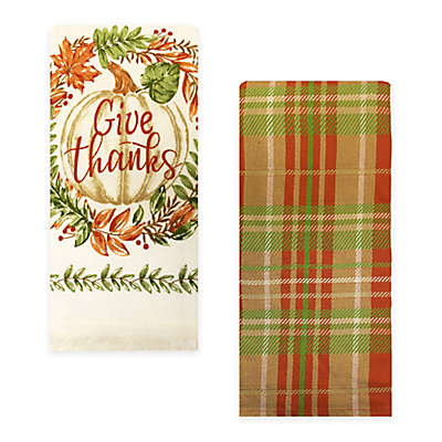 Give Thanks Kitchen Towels (Set of 2)