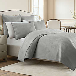 Wamsutta® Bliss Twin Coverlet in Steel Grey