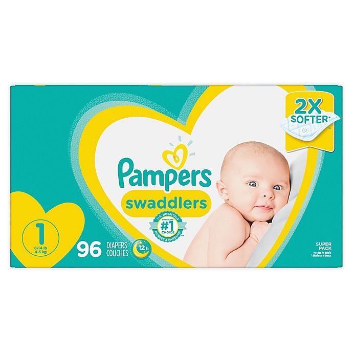 Alternate image 1 for Pampers® Swaddlers™ 96-Count Size 1 Super Pack Diapers