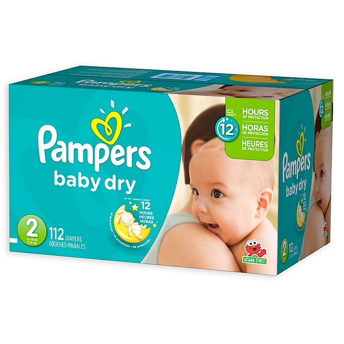 Alternate image 1 for Pampers® Baby-Dry 112-Count Size 2 Disposable Super Pack Diapers