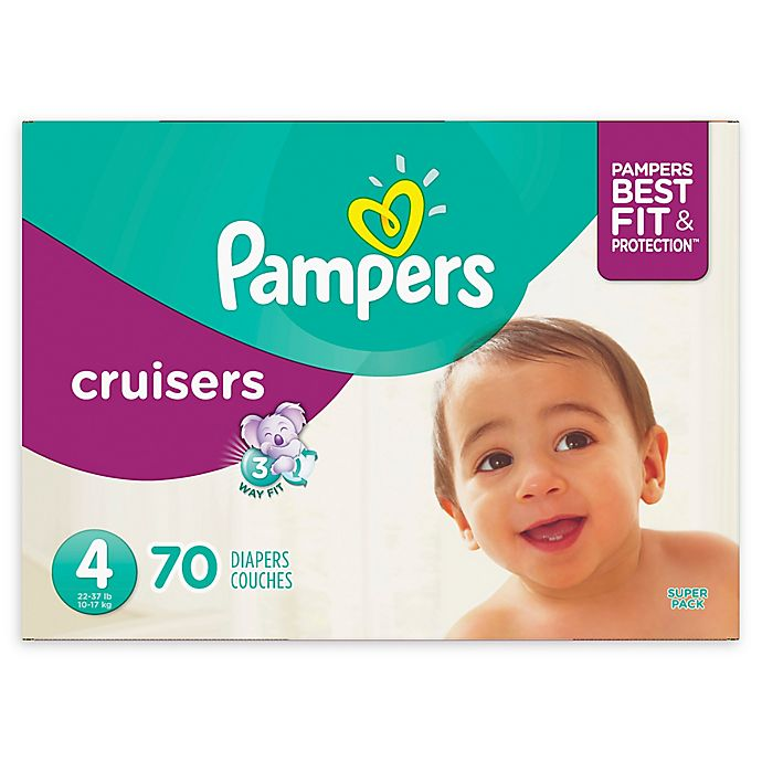 Alternate image 1 for Pampers® Cruisers 70-Count Size 4 Super Pack Diapers