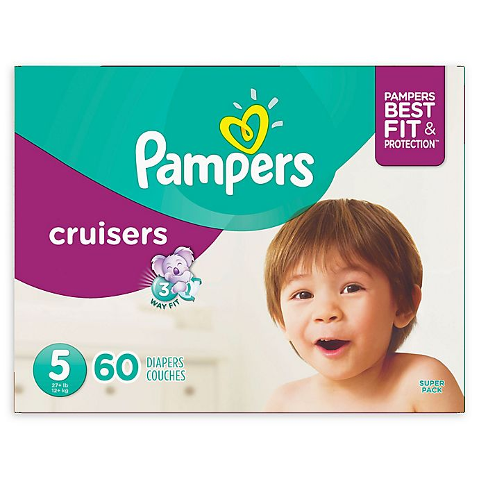 Alternate image 1 for Pampers® Cruisers 60-Count Size 5 Super Pack Diapers