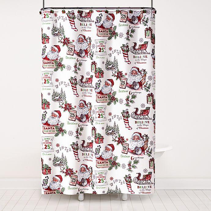 Vintage Santa Shower Curtain Collection