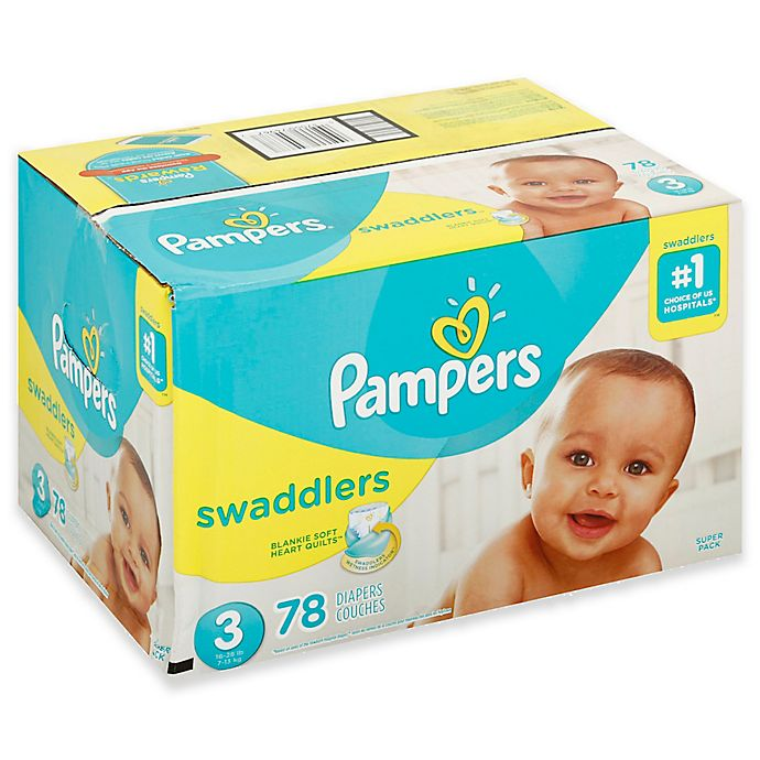Alternate image 1 for Pampers® Swaddlers™ 78-Count Size 3 Super Pack Diapers