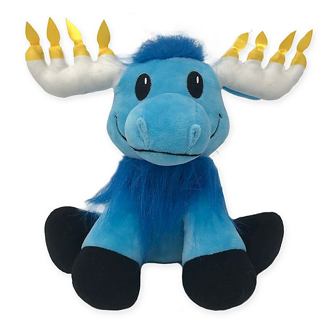 Alternate image 1 for Mitzvah Moose Plush Toy in Blue