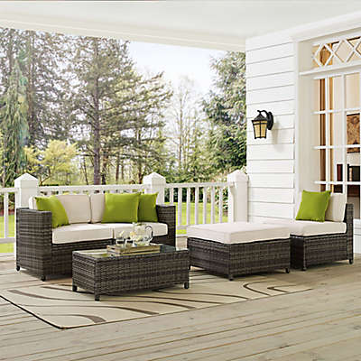 Crosley Sea Island 5-Piece Wicker Conversation Set