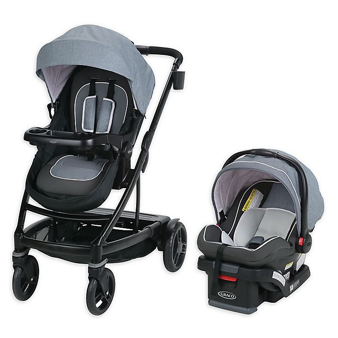 Alternate image 1 for Graco® UNO2DUO™ Travel System in Hazel™