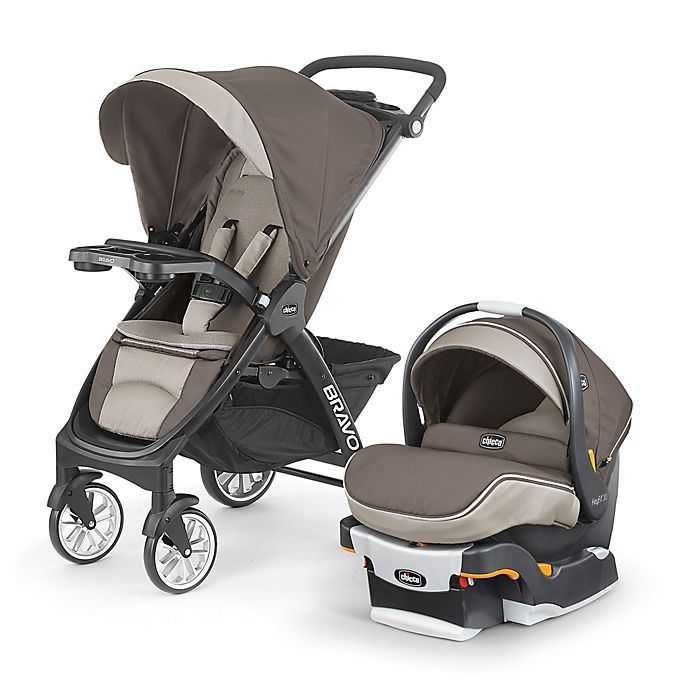 Alternate image 1 for Chicco® Bravo® LE Trio Travel System in Latte