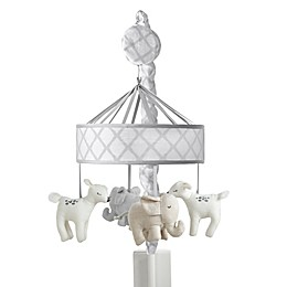 Just Born® Elephant and Deer Musical Mobile in Grey