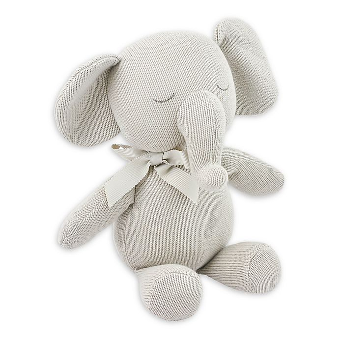 Alternate image 1 for Just Born® Keepsake Elephant Plush Toy in Flax