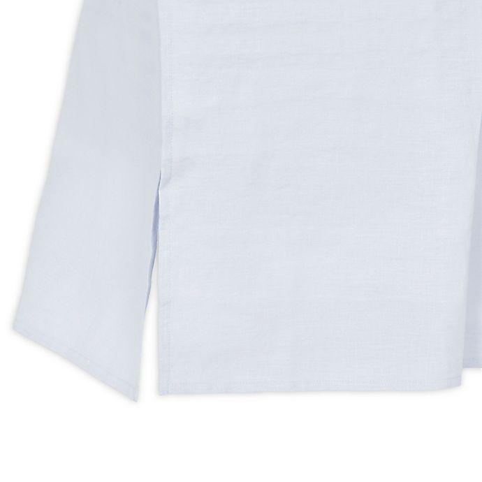 Alternate image 1 for Just Born® Keepsake Linen Crib Skirt in Grey