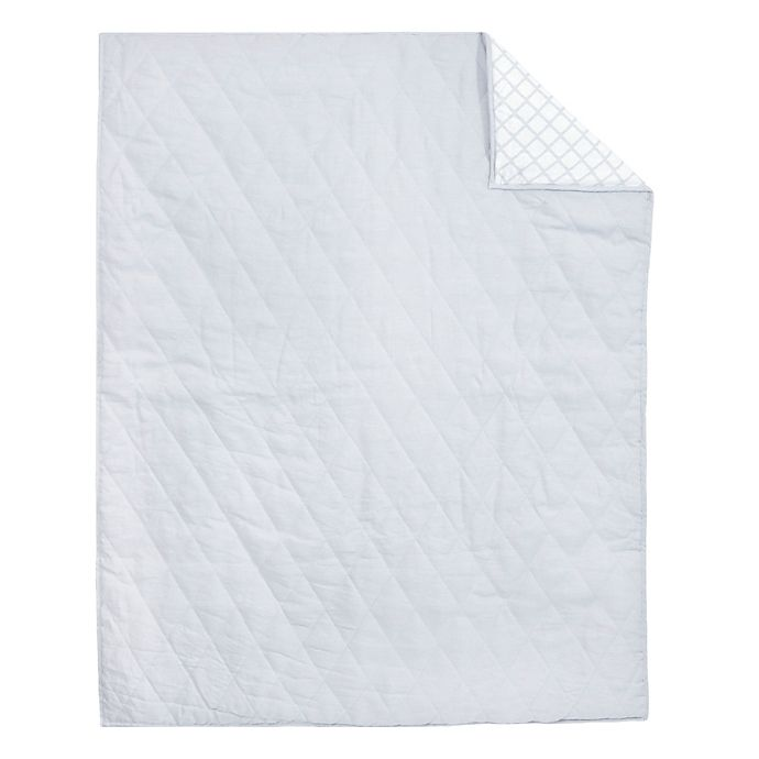 Alternate image 1 for Just Born® Keepsake Washed Linen Quilt in Grey