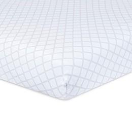 Just Born® Keepsake Trellis Washed Linen Crib Sheet in Grey/White