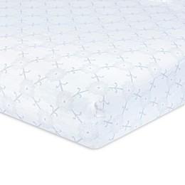 Just Born® Keepsake Floral Washed Linen Crib Sheet in Rose/Ivory