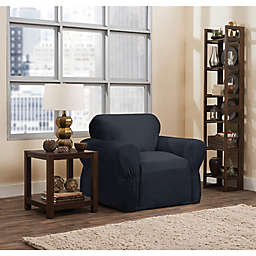 Smart Fit Parker 1 Piece Relaxed Cotton Chair Slipcover