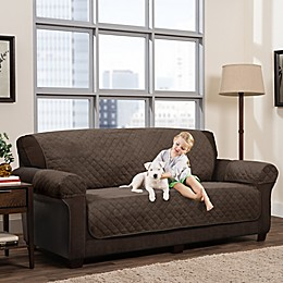 Smart Fit 3-Piece Reversible Suede Sofa Cover