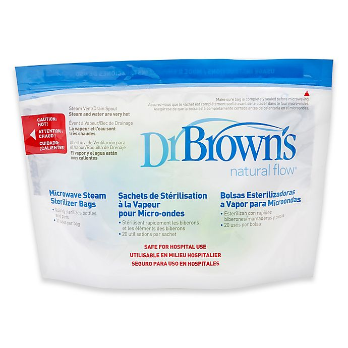 Dr Brown S Natural Flow Microwave Steam Sterilizer Bags