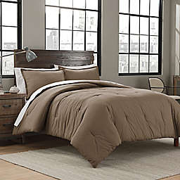 Garment Washed Solid 2-Piece Twin/Twin XL Comforter Set in Mushroom