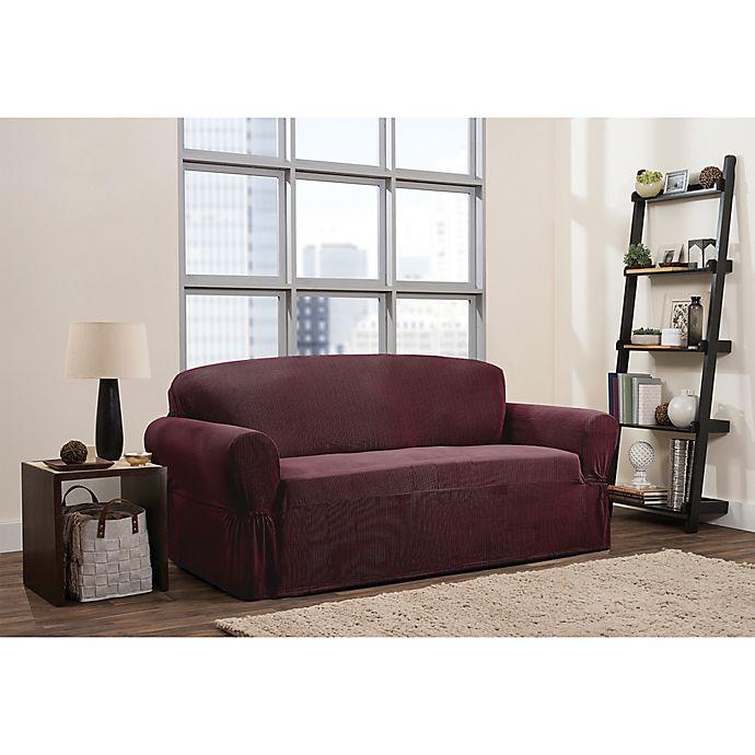 Alternate image 1 for Smart Fit 1-Piece Connor Sofa Slipcover in Garnet
