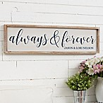 Always & Forever Barnwood Frame Wall Art