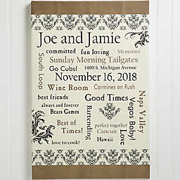 Our Life Together Personalized Canvas Print Collection