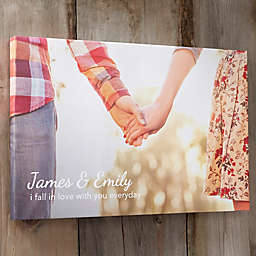 Our Photo Memories Canvas Print