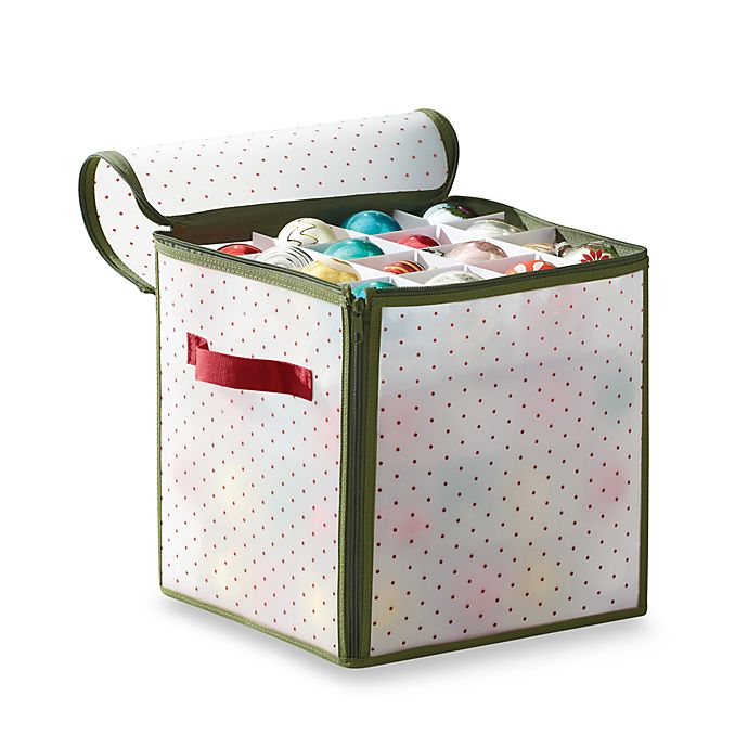 Alternate image 1 for Real Simple® Holiday 64-Count Ornament Storage Box