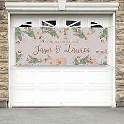 Modern Floral Wedding Banner