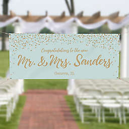 Sparkling Love Wedding Banner