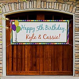Party Stripe Birthday Banner