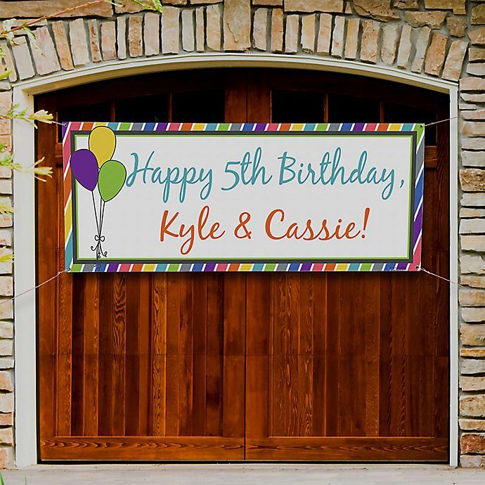 Alternate image 1 for Party Stripe Birthday Banner