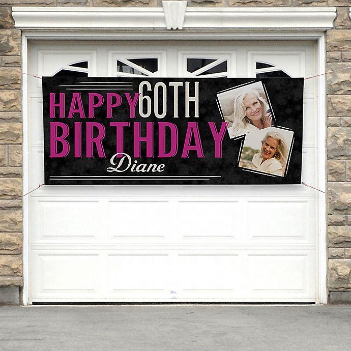 Alternate image 1 for Vintage Age Birthday Photo Banner