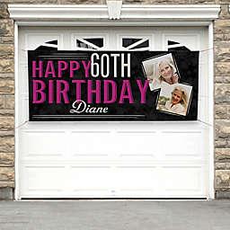 Vintage Age Birthday Photo Banner
