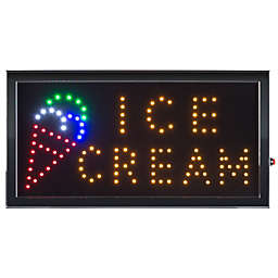 Nottingham Home Ice Cream LED Neon Animated 10-Inch x 19-Inch Sign