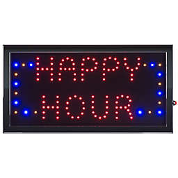 Nottingham Home Happy Hour LED Neon Animated 10-Inch x 19-Inch Sign