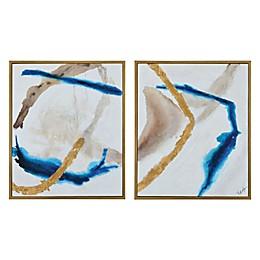 Renwil Kuma 36-Inch x 30-Inch Framed Canvas Wall Art (Set of 2)
