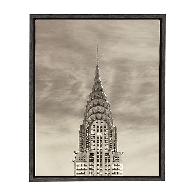 Alternate image 1 for Kate and Laurel Sylvie Empire State Building 18-inch x 24-Inch Canvas Art by Robert Cadloff