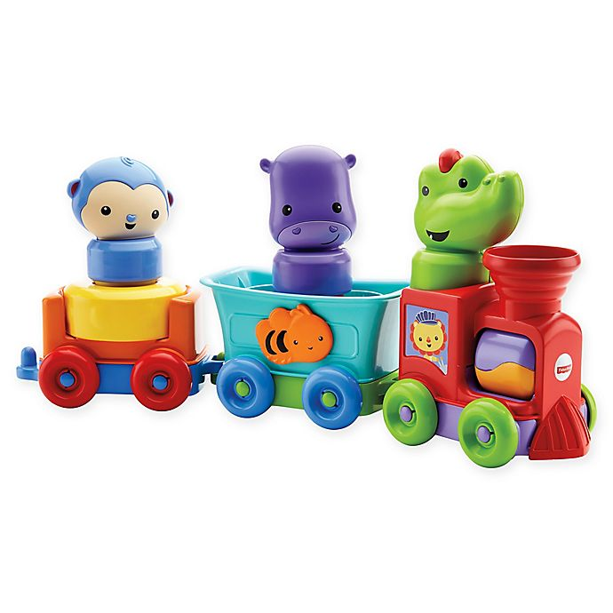 Alternate image 1 for Fisher-Price® Silly Safari Rattle and Roll Animal Train