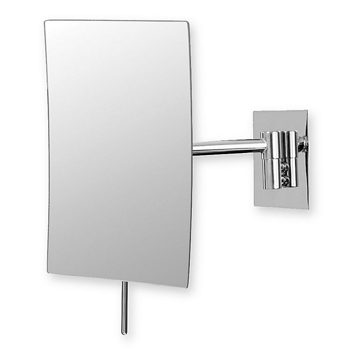 Alternate image 1 for Mirror Image™ Minimalist Rectangular 3X Wall Mirror with Chrome Finish