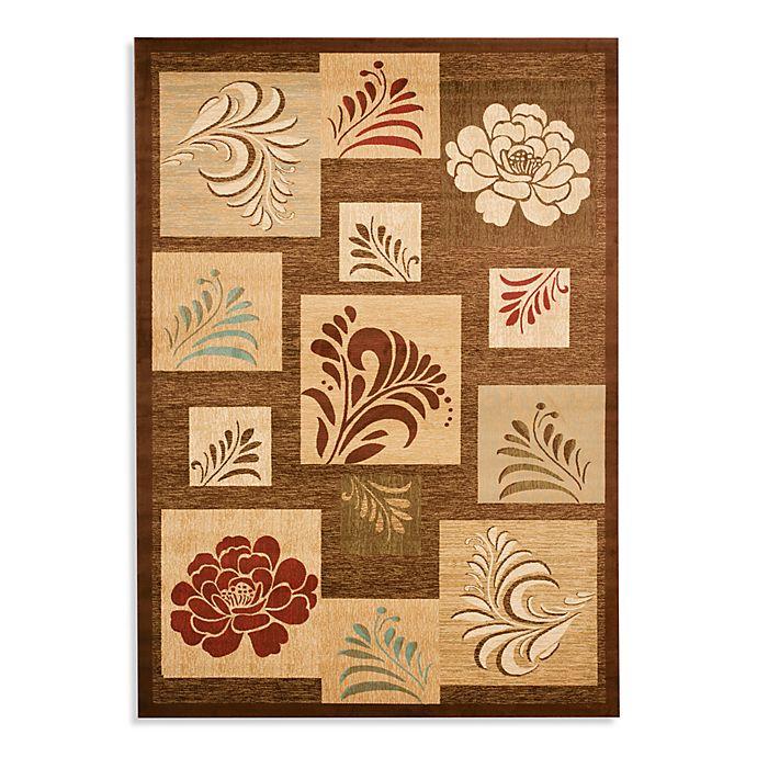 Alternate image 1 for Safavieh Lyndhurst Flower and Leaf Motif 8-Foot x 11-Foot Room Size Rug in Brown