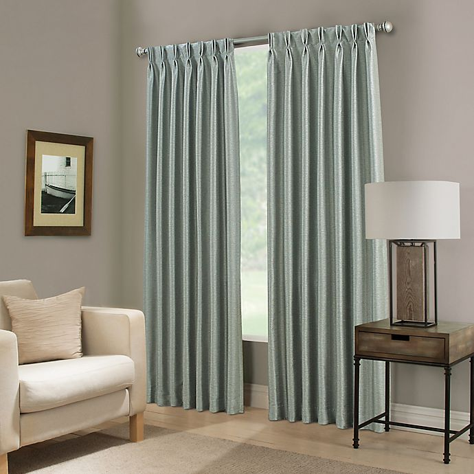 Alternate image 1 for Paradise 63-Inch Pinch Pleat Room Darkening Window Curtain Panel in Spa