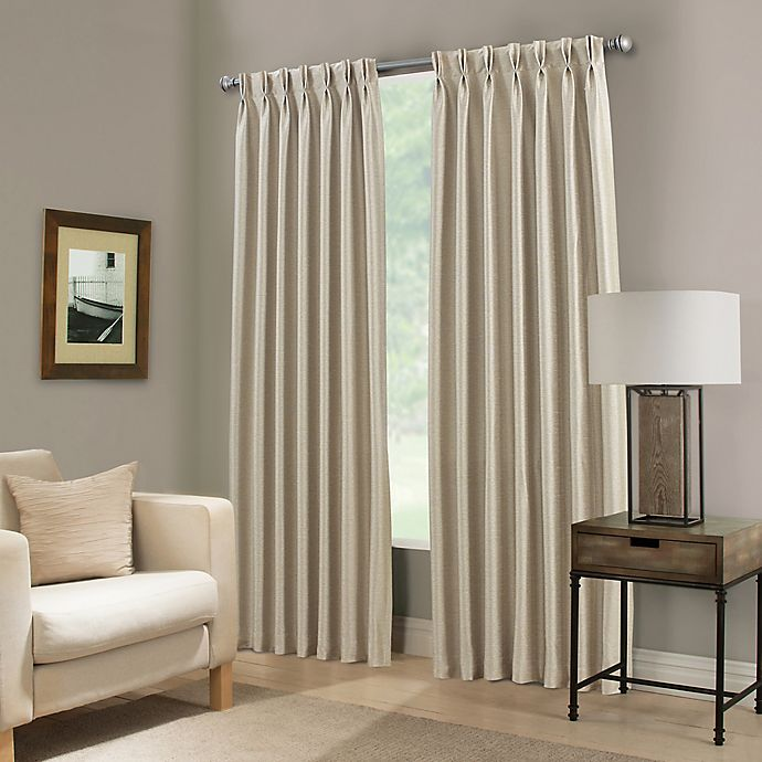 Alternate image 1 for Paradise 108-Inch Pinch Pleat Room Darkening Window Curtain Panel in Ivory